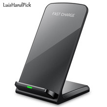 LuisHandPick Qi Fast Wireless Charger Charging Pad For Samsung Galaxy S9 S8 Plus S7 Edge Qi Wireless Mount Stand For Iphone 8 X(China)