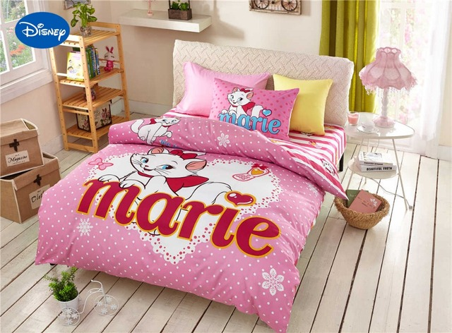 Ordinaire Marie Cat Bedding Sets Cotton Bedclothes Cartoon Disney Print Bed Covers  Girls Bedroom Decor Twin Full