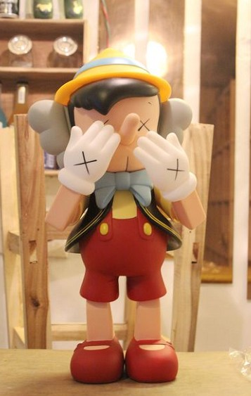 40cm Oversize Standing Original Fake KAWS Pinocchio medicom toy kaws factory product hot selling oversize 1000% bearbrick luxury lady ch be rbrick medicom toy 52cm zy503