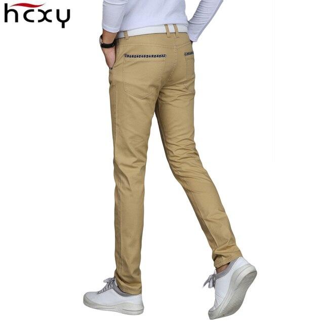 2017 New Casual Men Pants Cotton Slim Male Pant Straight Trousers Fashion Business Solid blue Black Pants Men Plus Size 38