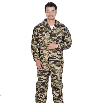 Summer Thin Work Overalls Male Labor Protection Camouflage Jumpsuit Plus Size Tooling Uniform Workwear One Piece Coveralls 61406