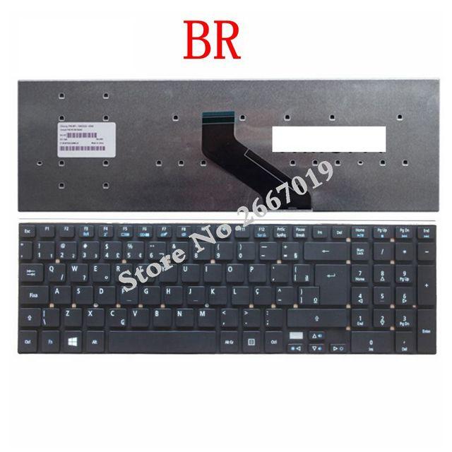 BR Nouveau clavier dordinateur portable POUR ACER Aspire E15 E1-510P E1-522G 5755 5755G 5830 5830G 5830 T 5830 T E1-530G E1-532G E1-532P Brésil