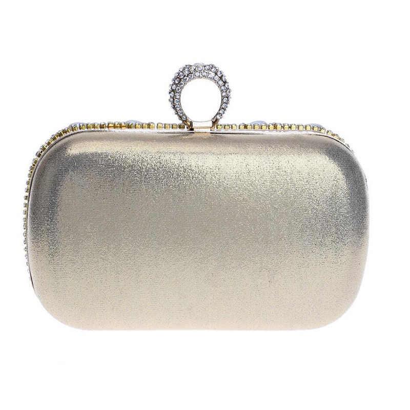 f83aa9f0750b ... Перстни клатч роскошные алмаз вечерняя сумочка; BS010 цвета:  золотистый, серебристый Для женщин кристалл ...