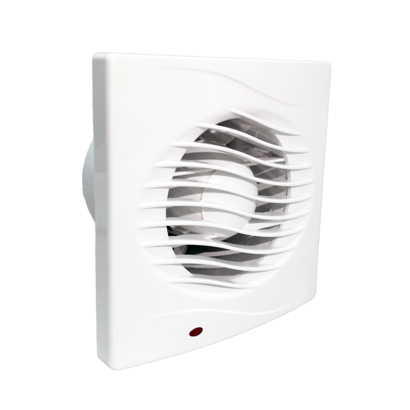 4 Inch Waterproof Window Mounted Ventilation Fan Bathroom Wall Mounting Ventilator Fan Exhaust Fan Extractor With Light 100mm