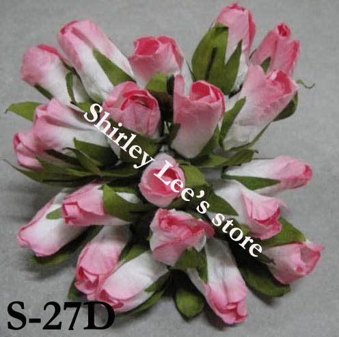 Wholesale--120 bunches  paper flowers--miniature  paper rose bud,dry look rose bud  (Free Shipping by Express)