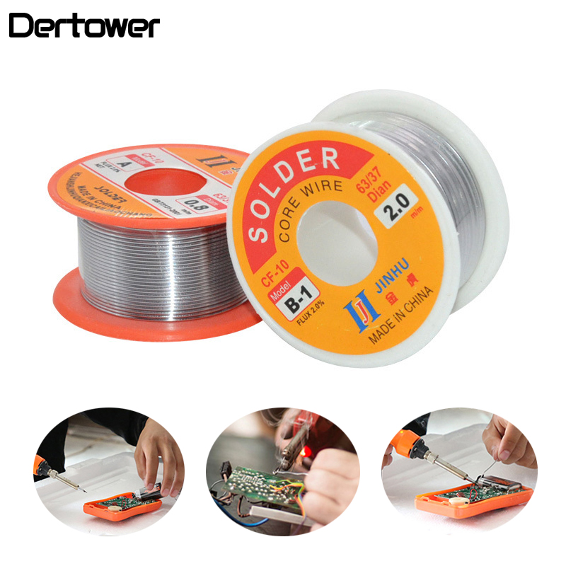 0.3/0.4/0.5/0.6/0.8/1 Solder Wire Tin Lead Tin Wire Melt Rosin Core Soldering Wire Roll Phone Computer Repair Welding Tools 50g