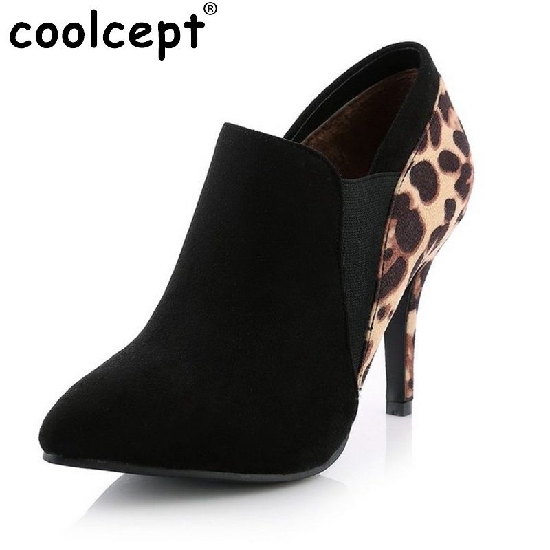 New Women Boots Fashion High Heels Shoes Women Ankle Winter Shoes Boots Women Snake Prin ...