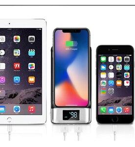 Image 5 - 2020 무선 30000mah 전원 은행 외부 배터리 은행 내장 무선 충전기 Powerbank 휴대용 충전기 iPhone8 x note9