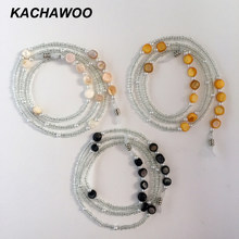 Kachawoo wholesale 12pcs pearl bead chain glasses neck cord for women fashion accessories for ladies sunglasses chain holder(China)