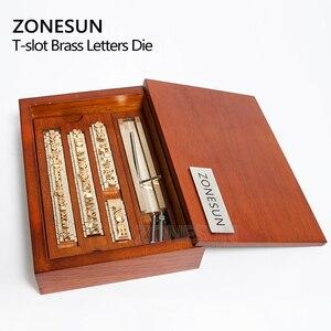 Image 4 - ZONESUN 6 مللي متر T فتحة 10 سنتيمتر تركيبات + 52 حروف الأبجدية + 10 أرقام + 20 رمز مخصص ختم الجلود حنين أداة العلامة التجارية آلة الحديد