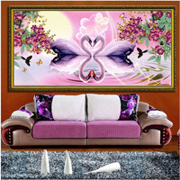 2016 Diamond Embroidery 5d Diamond Draw Swan Lovers Embroider Stick Painting The Living Room A For