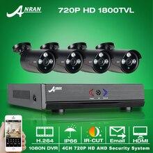 ANRAN 1080N 4CH CCTV AHD DVR HDMI 720 P 1800TVL ИК Всепогодный Открытый Камеры ВИДЕОНАБЛЮДЕНИЯ Системы Безопасности Дома Видео Наблюдения комплекты