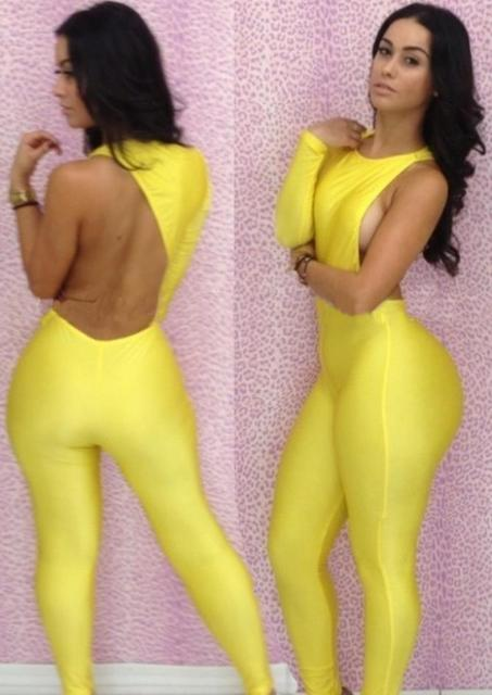 f8d8e9e032d0b Dress New Women Sexy Backless One Shoulder Bandage Bodysuit Catsuit Overall  4008 Sexy Dress