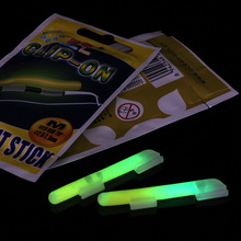100Pcs SS S M L Size Night Fishing Luminous Fluorescent Light stick Snap Clip On Fishing Rod Top Glow Stick fishing tool FF40