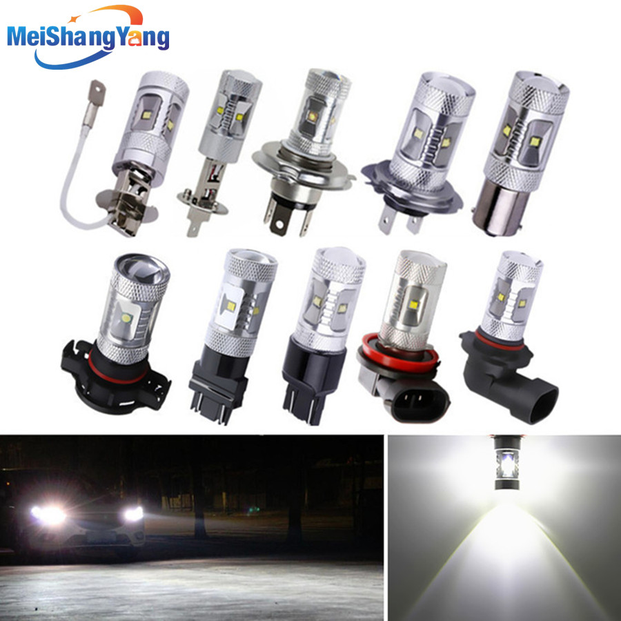 30W LED Lights Xenon White Bulbs H1 H3 H4 H7 H11 H16 3156 3157 7440 - Car Lights - Photo 1