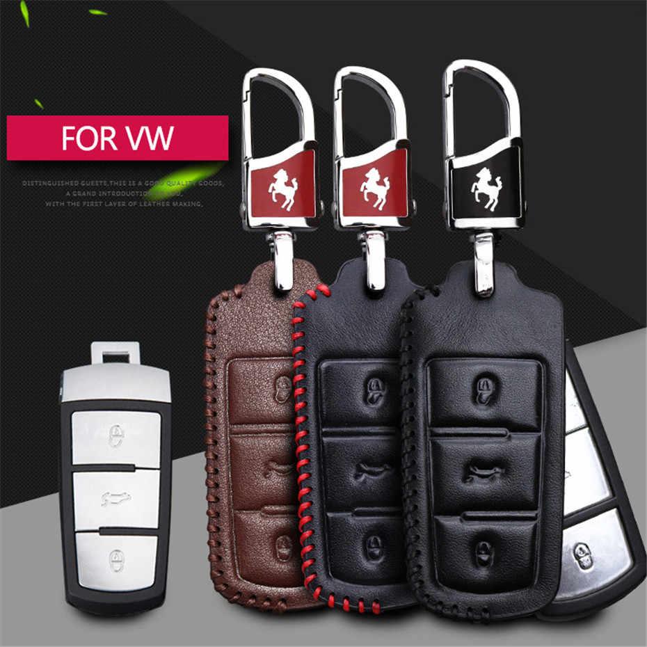2019 кожаный чехол для ключей автомобиля, чехол для ключей для Volkswagen Golf 4 5 6 7 CC Passat B6 B7 Passat 3C CC Magotan R36 B5 B7L