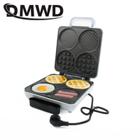 DMWD Electric Waffle Maker Dorayaki Cake Breakfast Baking Machine Egg Omelette Cooker Grill Pan Sandwich Toaster Hamburger Oven