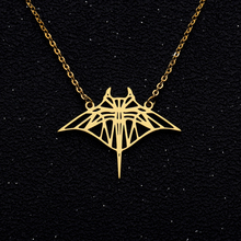 Hollow Bat Pendents Necklaces Collier Gold Chain Necklace Bijoux mant ray Beach Jewelry Summer Fish Accessories