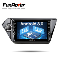 Funrover IPS android 8.0 car dvd radio gps for kia k2 rio 2010 2011 2012 2013 2014 2015 2016 navigation Car Multimedia Player 2G