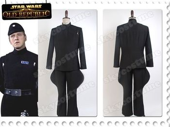 Star Wars Imperial Officer Cosplay Costume Stormtrooper Black Uniform size Halloween Adult Men Full Sets