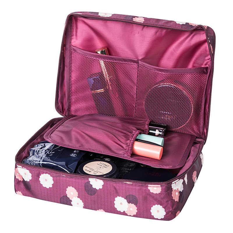 Women s Travel Cosmetic Bags Beautician Vanity Necessary Pouch Toiletry Wash  Bra Underwear Makeup Case Organizer Accessories 84fc2e51b30c4