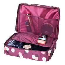 Women's Travel Cosmetic Bags Beautician Vanity Necessary Pouch Toiletry Wash Bra Underwear Makeup Case Organizer Accessories(China)