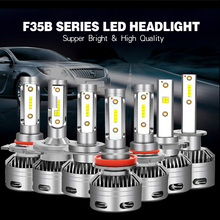 Новая импортная бусинами D2H D2S H4 H3 H7 светодиодные фары диода лампа для авто передние фары 60 Вт 10000LM/комплект H8 H1 9006 Hb4 9005 Hb3 Led