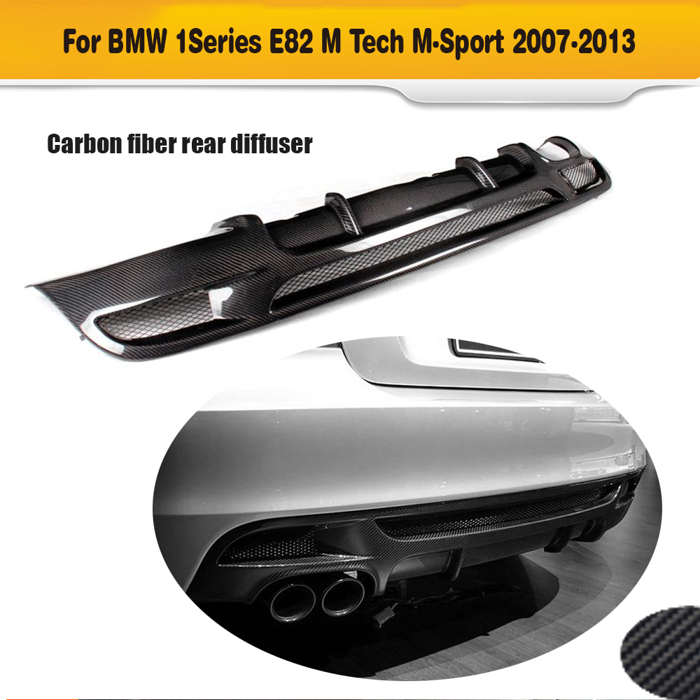 1 Series For E82 E88 carbon fiber Car Rear Bumper Lip Spoiler Diffuser for BMW E82 E88 M Sport 2 Door 2007 - 2013 Convertible1 Series For E82 E88 carbon fiber Car Rear Bumper Lip Spoiler Diffuser for BMW E82 E88 M Sport 2 Door 2007 - 2013 Convertible
