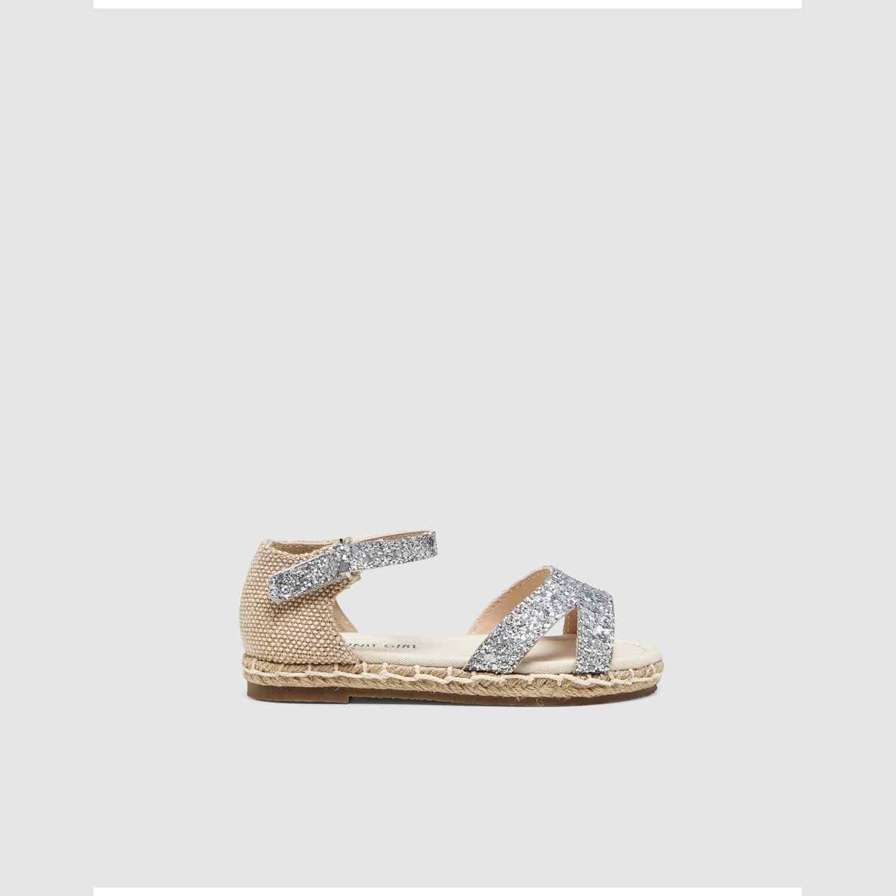 UNIT NINA SANDALS сандалии джутовые серебряные
