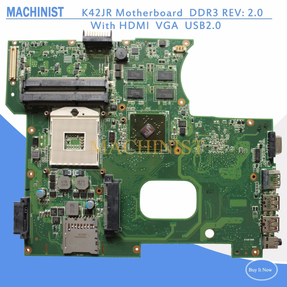 K42JR laptop motherboard REV 2.0 For ASUS A42J K42J P42J X42J K42JE K42JB K42JZ K42JY K42JR motherboard HM55 100% tested intact