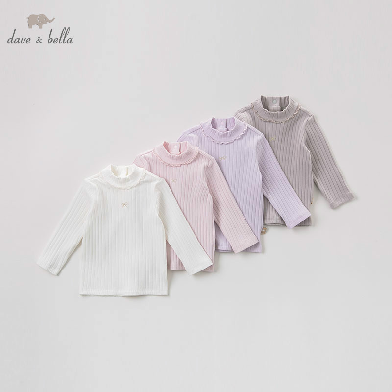 DB8950 dave bella baby girls autumn infant baby fashion t-shirt toddler top children high quality tees lovely clothes db5884 dave bella autumn infant baby girls fashion t shirt kids 100% cotton lovely tops children high quality tee
