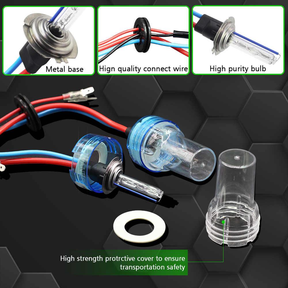 Cawanerl 55ワット車キセノンライトhidキットスリムバラストac電球ヘッドライトフォグライトH1 H7 H8 H11 9005 HB3 3000 18k 4300 18k 6000 18k 8000 18k 12v