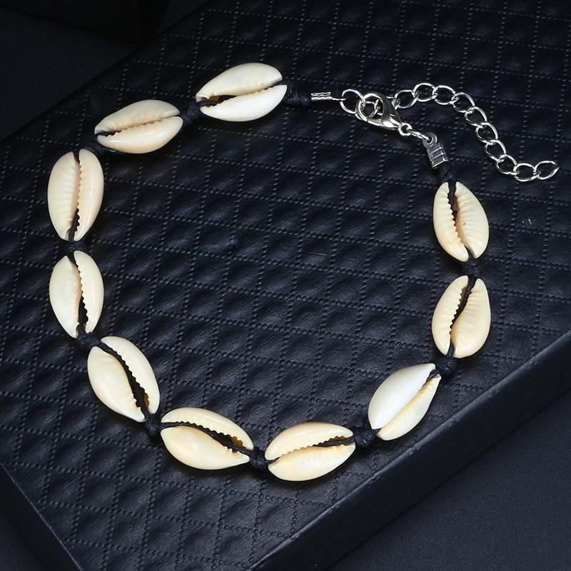 Minimalist Black Rope Shell Anklets For Women Charm Vintage Anklets Bracelets Wedding Jewelry Accessories in Anklets from Jewelry Accessories