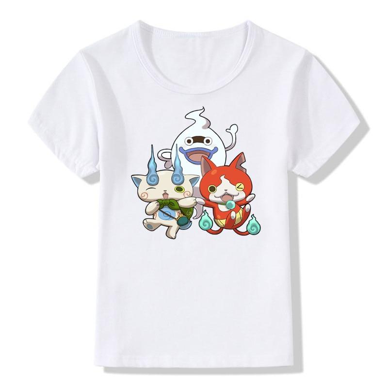 2018 어린이 인쇄 만화 요 카이 시계 유령 재미 T 셔츠 - 아동복 - 사진 2