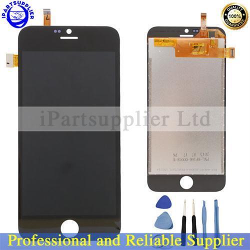 100% Nueva Pantalla LCD Original + Pantalla Táctil de Cristal Digitalizador Asamblea Panel Para Blackview Ultra Teléfono A6-Negro y blanco