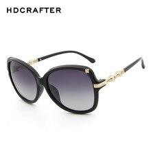 4aed5dfb415fa2 HDCRAFTER De Luxe Diamant Perle Nuances lunettes de Soleil Polarisées Femmes  Marque Designer 2018 vintage dames Lunettes de Sole.