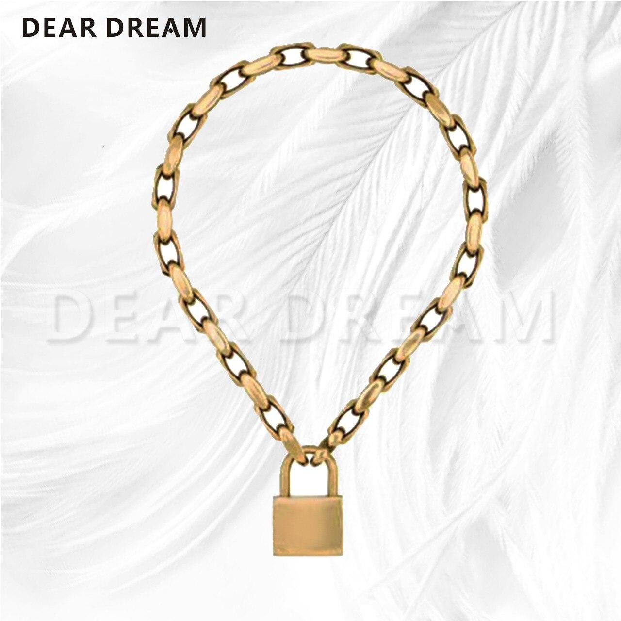 Femmes bijoux cadenas pendentif collier tout nouveau cadeau de saint valentin pour les femmes fille 2019