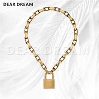 Women Jewelry PadLock Pendant Necklace Brand New Valentine's Day Gift For Women Girl 2019