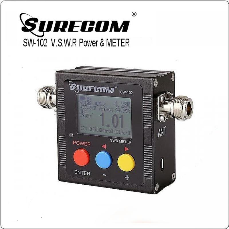 SW-102 Digital VHF/UHF Power & SWR Meter & Frequency Counter N-J SURECOM COVER 125MHz~520MHz For Ham Radio Interphone Scanner