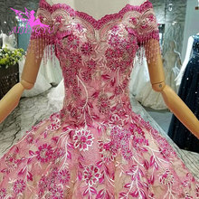 AIJINGYU, vestidos de novia de manga larga, vestidos de campo hermosos para la venta, vestido blanco en 3D árabe para mujeres, vestido de tul de Singapur