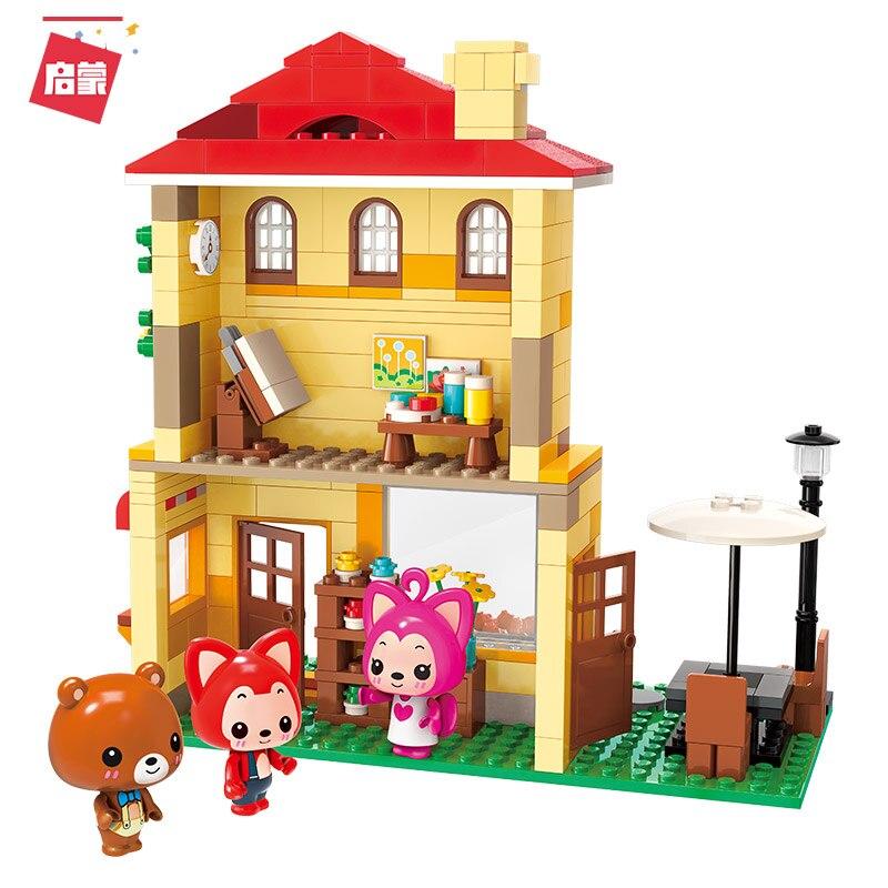 Enlighten Building Block Ideas Bloom Garden Cabin Ali Fox Carton 306pcs Educational Bricks Toy