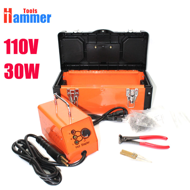 110v US Hot stapler machine repair kit plastic welder stapler for car repair tools 110v 220 hot stapler plastic welding machine plastic repair kit plastic welder stapler for motor or car