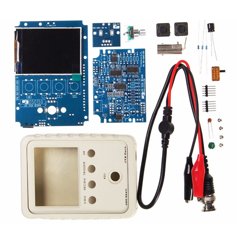 LIXF-NEW DS0150 15001K DSO-SHELL (DSO150) Digital Oscilloscope Kit mit With Housing dso150 digital scope oscilliscope kits avr core with probe