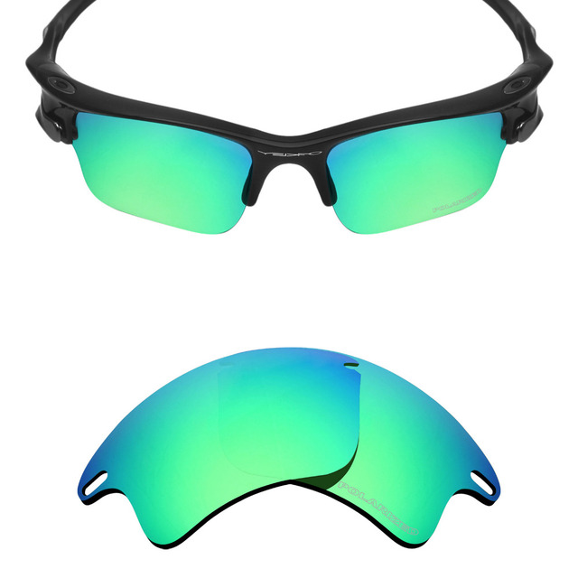 HKUCO Plus Mens Replacement Lenses For Oakley Half Jacket Sunglasses Red/Blue/Emerald Green Polarized AcfynmfrRB