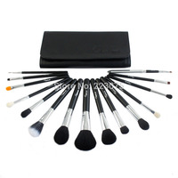 Hot 15pcs Pro Makeup Brush Set Tapered Blending Powder Blush Concealer Premium Brushes W Bag