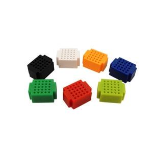 Free shipping! 7PCS Mini 25 Tie-point Breadboard Solderless Prototype Test Board ( 7 kinds of colors / lot)