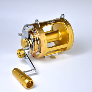 Two Speed Boat Fishing Reel GT80W Jigging Wheel Aluminum CNC Machined Sea Boat Big Game Reel Trolling Reels(China)