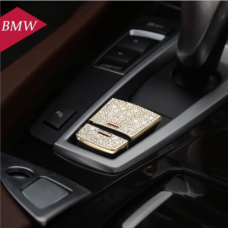 Car Styling Electrónica botón del freno de mano cubierta decorativa de la etique
