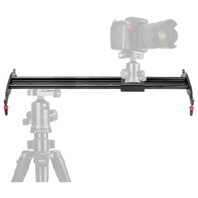 ФОТО 80cm Aluminum Alloy Black Track Dolly Slider for Camera + Nylon Bag +Hexagon Tool For Capturing Dynamic Shots