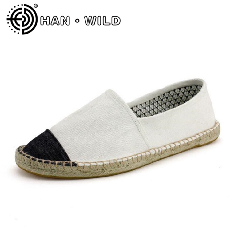 Women Casual Canvas Shoes Comfortable Espadrille Fisherman Shoes Female Footwear Hemp Bottom Women Slip On Flats Loafers